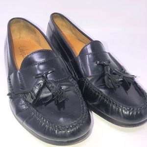 COLE HAAN pinch tassel loafer sz 10.5 D black
